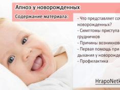 Апноэ у новорожденных: причины остановки дыхания и помощь при приступах