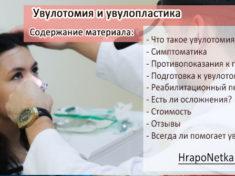 Увулотомия и увулопластика